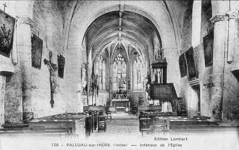 CPA_Palluau_EgliseIntérieur