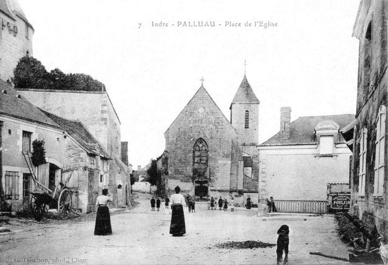 CPA_Palluau_PlaceEglise