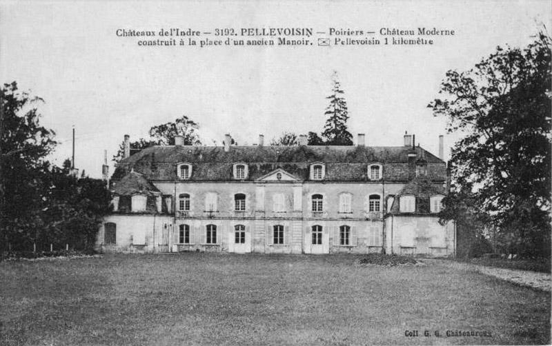 CPA_Pellevoisin_ChateauPoiriers2