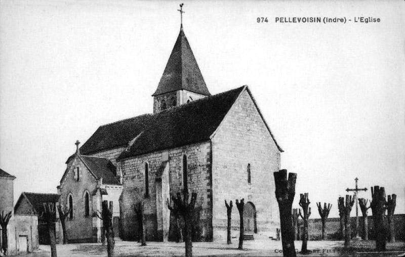 CPA_Pellevoisin_LEglise2