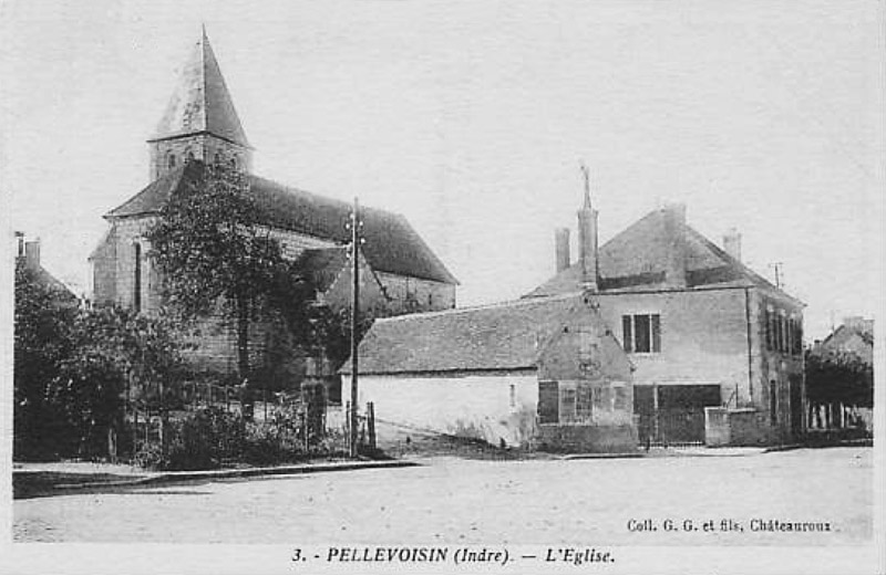 CPA_Pellevoisin_LEglise5