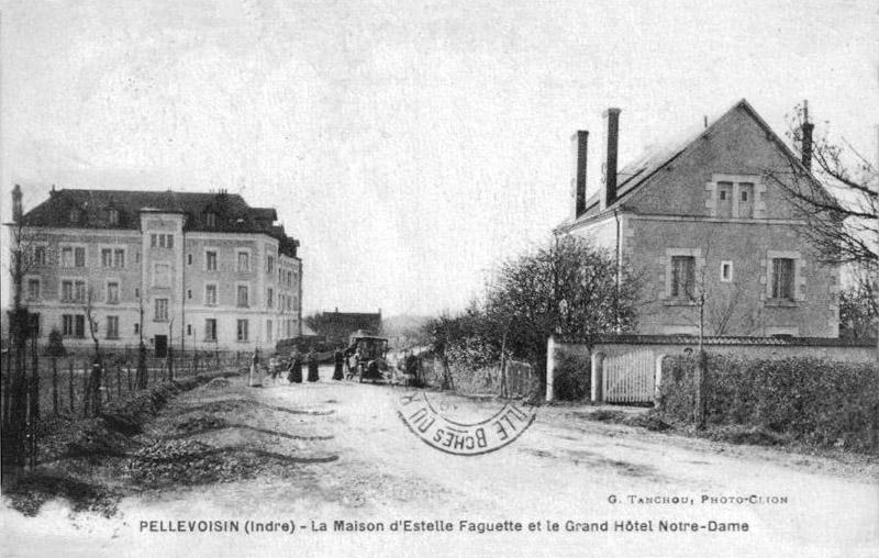 CPA_Pellevoisin_MaisonFaguetteHotel