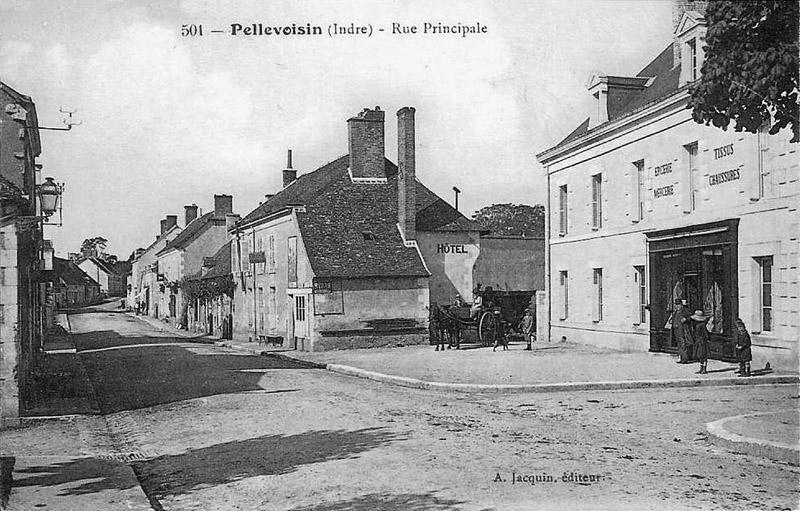 CPA_Pellevoisin_ruePrincipale3