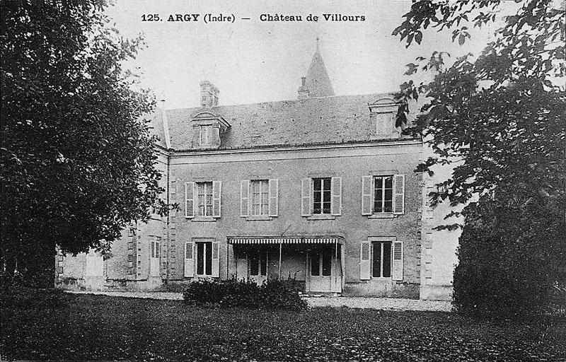 CPA_Argy_Château-de-Villours