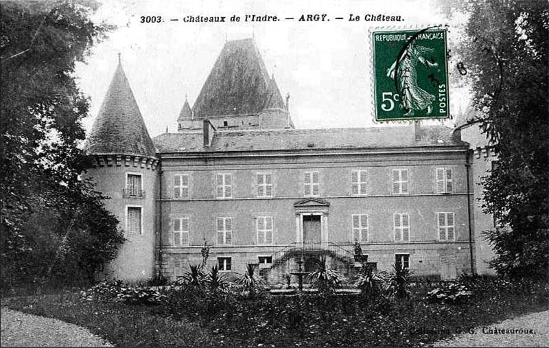 CPA_Argy_Façade-du-château