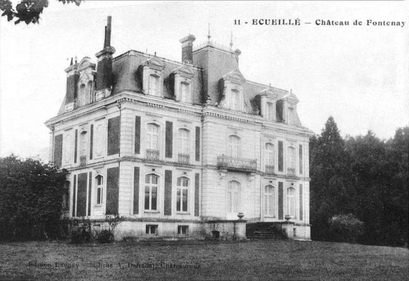 CPA_Ecueillé_ChateauFontenay