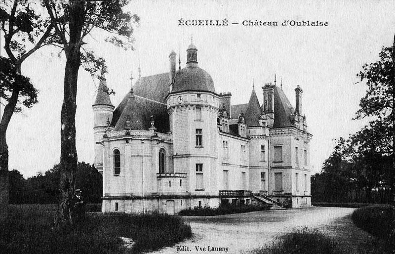 CPA_Ecueillé_ChateauOublaise
