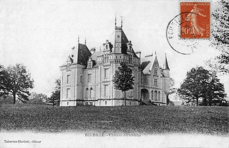 CPA_Ecueillé_ChateauOublaise2