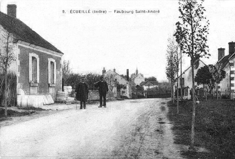 CPA_Ecueillé_FaubourgSaintAndré