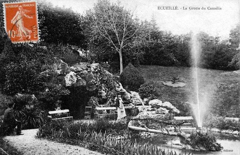 CPA_Ecueillé_GrotteCamélia