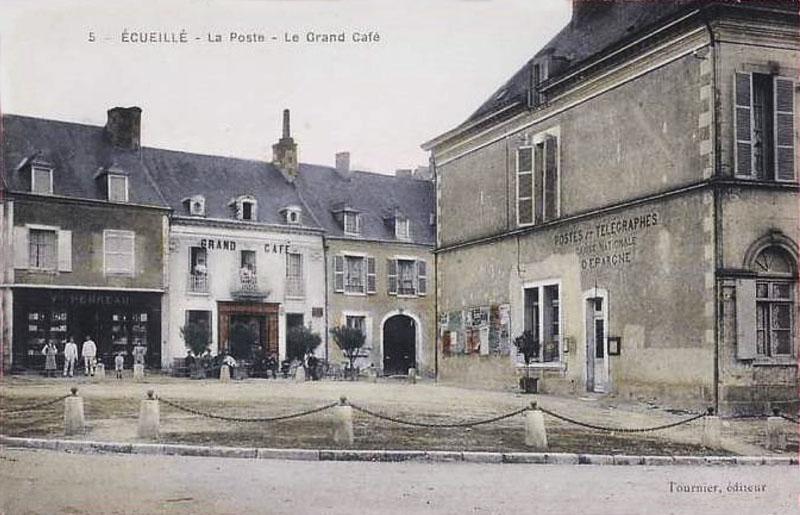 CPA_Ecueillé_LaPosteGrandcafé