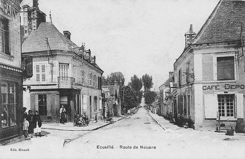 CPA_Ecueillé_RouteNouan