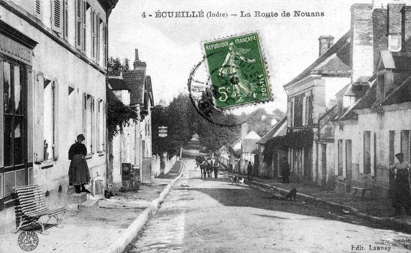 CPA_Ecueillé_RouteNouan3