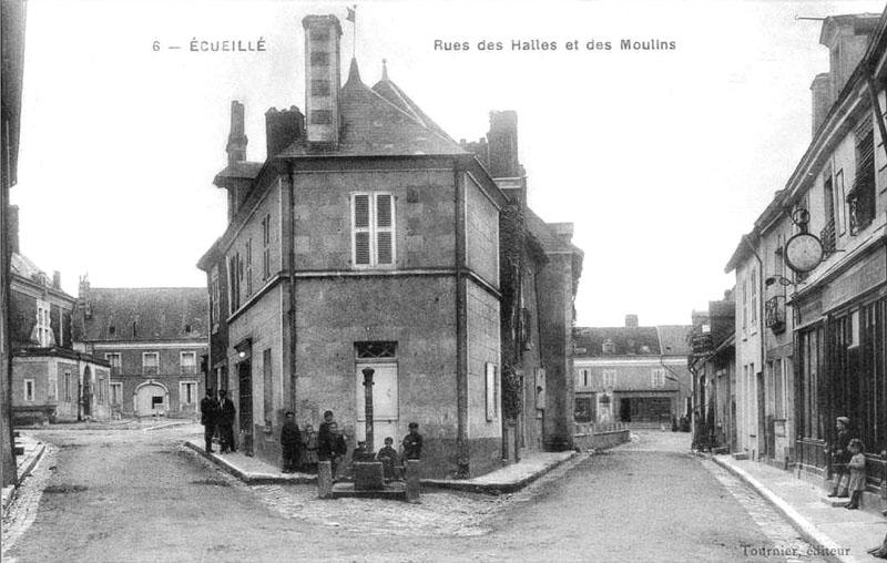 CPA_Ecueillé_RueHallesmoulins2