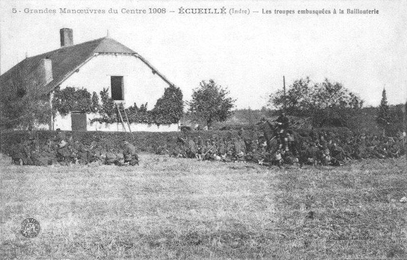 CPA_Ecueillé_grandesManoeuvres6