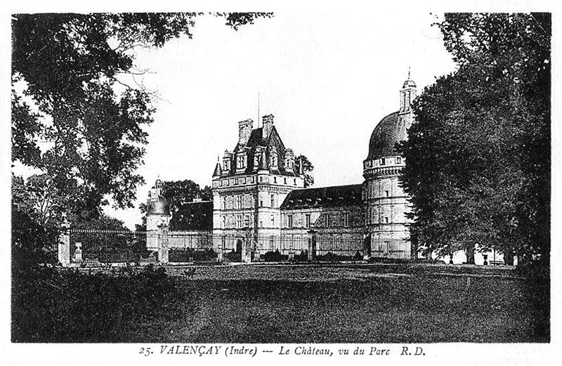 CPA_Valencay_ChateauVueParc