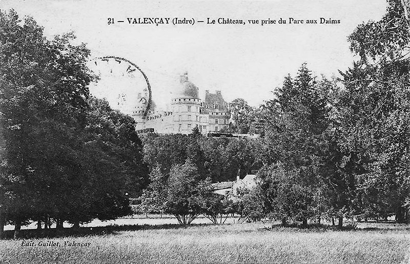 CPA_Valencay_ChateauVueParcDaims