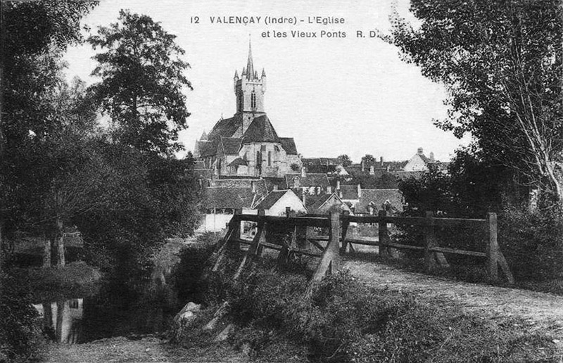 CPA_Valencay_EgliseetPonts