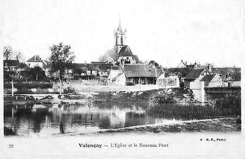 CPA_Valencay_EgliseetnouveauPont