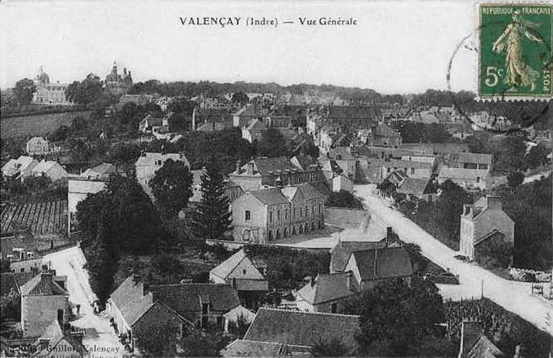 CPA_Valencay_VueGénérale