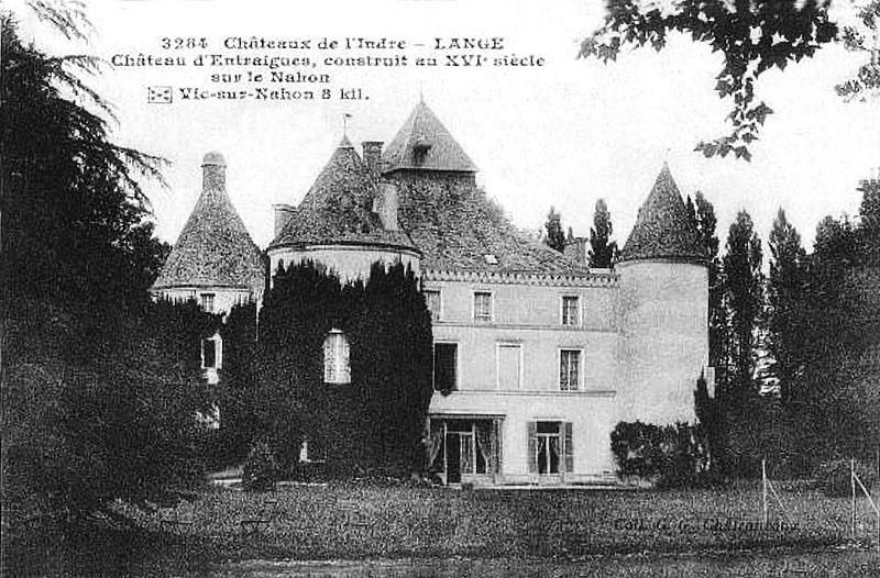 CPA_Langé_ChateauEntraigues