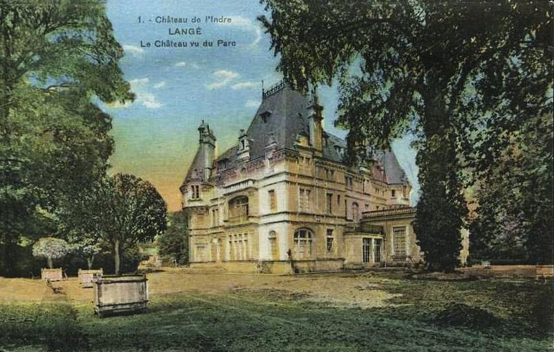 CPA_Langé_chateauvuduParc
