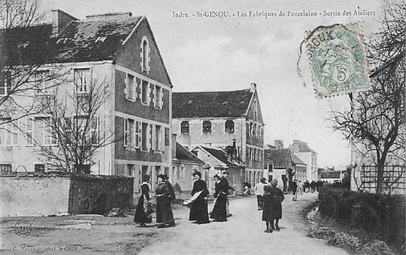CPA_SaintGenou_FabriquePorcelaine