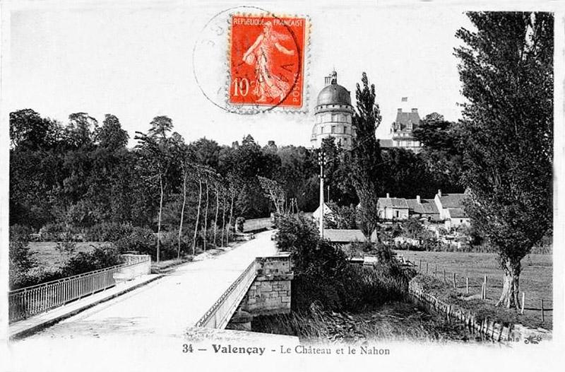 CPA_Valençay_ChateauEtNahon