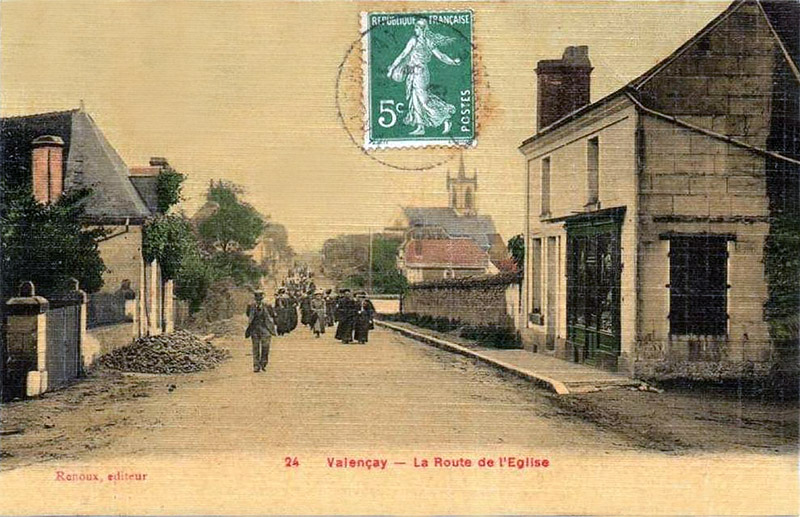 CPA_Valençay_RouteEglise