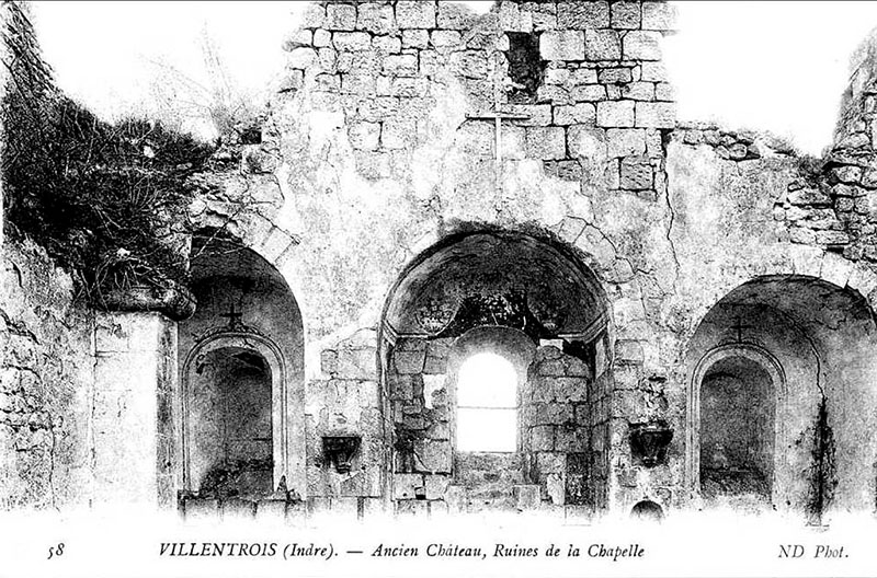 CPA_Villentrois_Ancien.Chateau.Chapelle