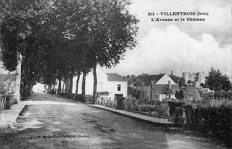 CPA_Villentrois_Avenue.Chateau