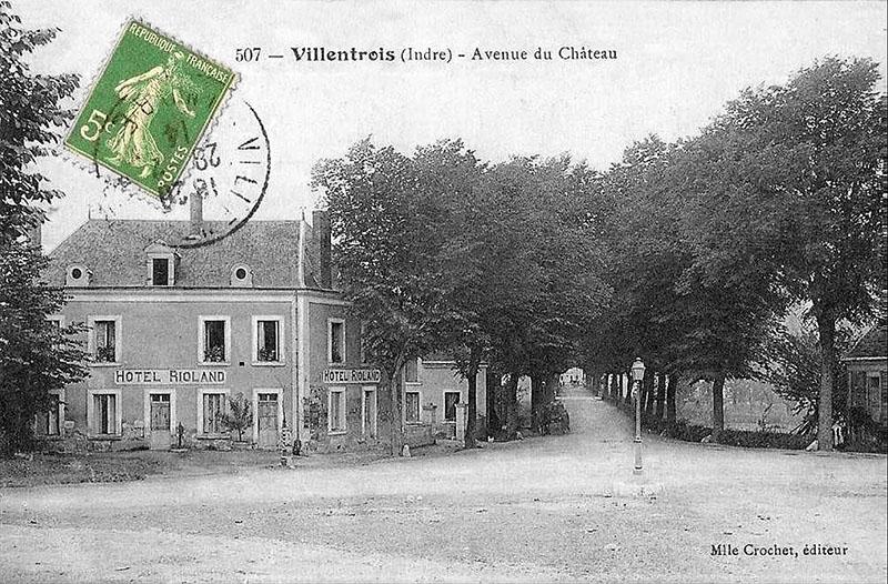 CPA_Villentrois_Avenue.Chateau02
