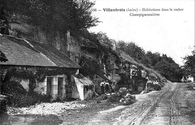 CPA_Villentrois_Habitations-Rochers